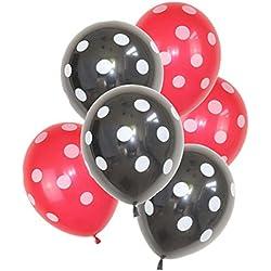 Jeeke 32 Pcs Balloons Decor,Ladybug Polka Dot Latex Balloons For Wedding Party Baby Shower Birthday Decor (Color A)