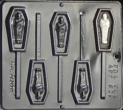 Coffin with Mummy Lollipop Chocolate Candy Mold