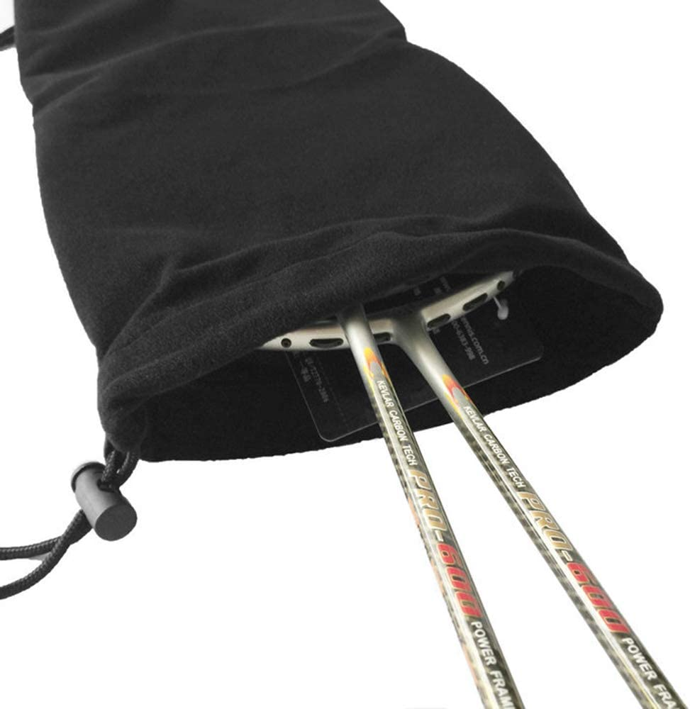 Honeytecs Badminton Racquet Cover Bag Soft Fleece Storage Bag Case for Badminton Racket