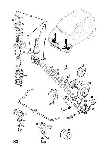 Original Opel Agila A petrol vorne anti Roll Bar D Form Bush 9209414