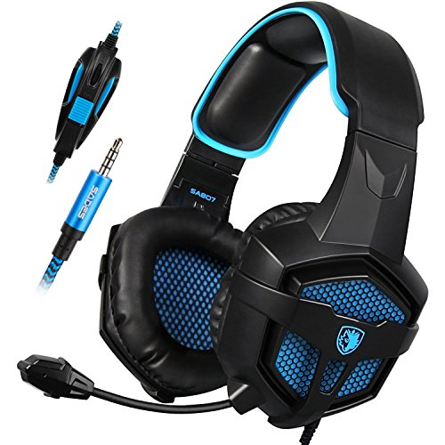51vuZPsOgyL - Sades SA-807 Stereo Bass Surround, Soft Memory Earmuffs, Gaming Headset Compatible with PC Xbox One, Mac, PS4, PS4 Pro, Laptop and Mobile Gaming(Black and Blue)