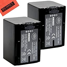 BM Premium 2-Pack of NP-FV70 Batteries for Sony FDR-AX53, HDR-CX675/B, HDR-CX455/B, HDR-CX190, HDR-CX200, HDR-CX210, HDR-CX220, HDR-CX230, HDR-CX290, HDR-CX380, HDR-CX430V, HDR-PJ230, HDR-PJ380, HDR-PJ430V, HDR-PJ650V, HDR-PJ670/B, HDR-PV790V, HDR-TD30V,