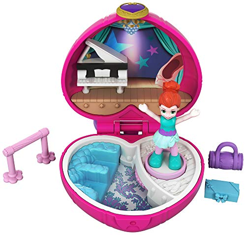 Polly Pocket Tiny Pocket Places Ballet Compact! Lila Doll (Polly Supplies Pocket Party)