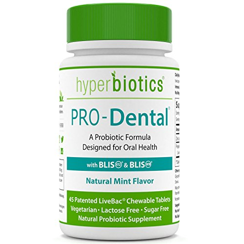 Pro Dental  Probiotics For Oral   Dental Health   Targets Bad Breath At Its Source   Top Oral Probiotic Strains Including S  Salivarius Blis K12   Blis M18   Sugar Free  Chewable    45 Day Supply