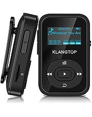 Mini MP3-Player Sport Bluetooth 4.0mit Clip klangtop Musik-Player 8G 30Stunden Wiedergabe–blau
