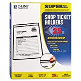 Shop Ticket Holders, Stitched, Both Sides Clear, 8 1/2 x 11, 25/BX, Total 125 EA