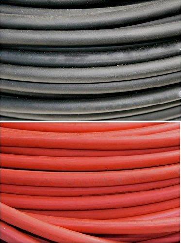 Nassau電源ワイヤ2 / 0ゲージAWG 125フィートブラック+ 125フィートレッド( 250 ft。溶接リードと車バッテリーHD Usa 600 V銅線ワイヤケーブル B073CGX8ZL