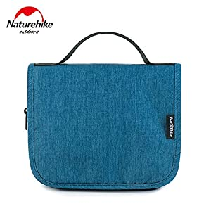 Naturehike Unisex Hanging Toiletry Bag Outdoor Camping Business Travel Cosmetic Bag Wash Bag Carry on Goods (Blue)