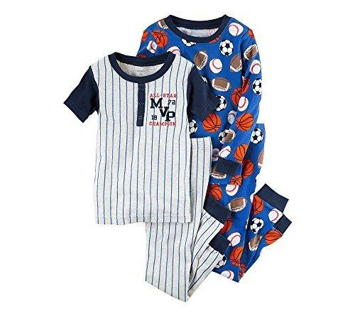 Carter's Boys' 12M-12 4-Piece All-Star MVP Pajama Set 18 Months