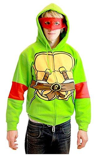 Teenage Mutant Ninja Turtles Raphael Costume Adult Hooded Sweatshirt (Adult X-Small) -
