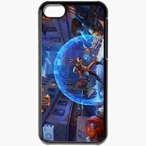 Personalized iPhone 5C Cell phone Case/Cover Skin Art Megavolt Darkwing Duck City Night Machinery Black