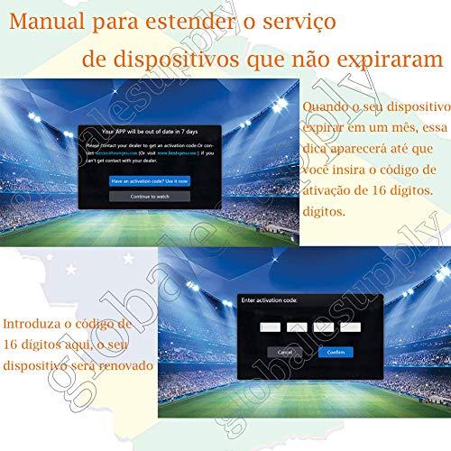 16 16-Digit Renew Code for HTV 1 2 3 5 / A2 / A1 / IPTV 5 6 / IPTV5+Plus  IPTV Brazil/Brazilian Renewal/Portuguese TV Box Subscription Service Valid