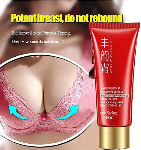 Beauty Cream-Breast Enhancement Cream,sakd lift up buttocks, tighten skin, eradicate black lines and remove cellulite Ginger Hot version 1 pack of Breast Enhancement Cream 60ML (Red)
