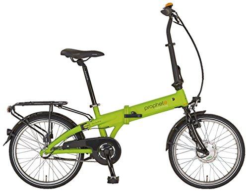Prophete Elektrofahrrad E-Bike Alu-Faltrad 20 Zoll Navigator 6.1, lemon matt, 30, 52646-0111