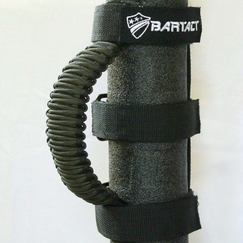 Bartact TAOGHUPBO - Universal Paracord Grab Handle (Pair) - Made in USA - Black/Olive DRAB