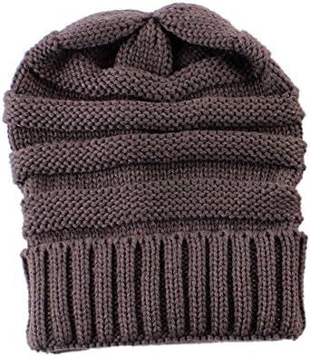 Anself sombreros de punto invierno de bebé mamá moda gorro cálido ...