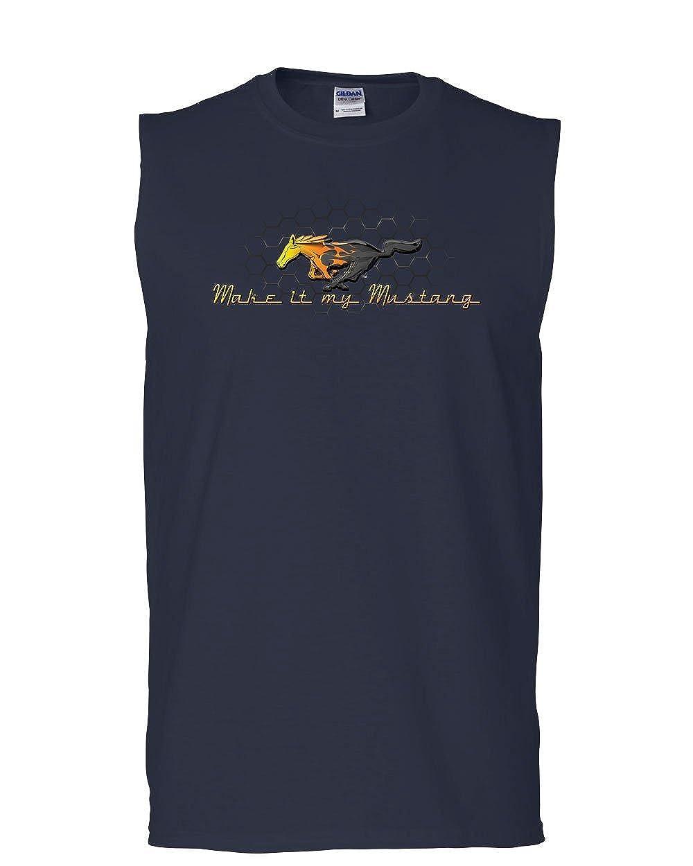 Make it My Mustang Muscle Shirt Honeycomb American Classic Fire Horse Sleeveless