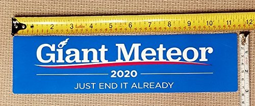 Made in USA Giant Meteor 2020 Bumper Sticker