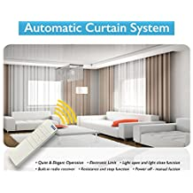 Electric Remote Controlled Drapery System W/8' Track Center Opening & Ceiling Mount Brackets CL-920A by Curtain Call