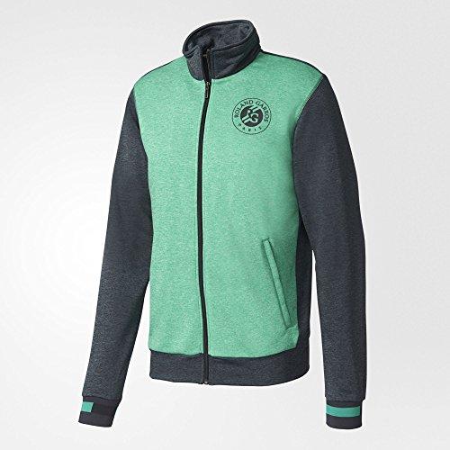 - adidas Men's 2017 Roland Garros Climalite Tennis Polo, Night Grey/Core Green (Medium)