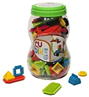 CUBIK Blocks Storage Bucket Building Kit (90 Piece)