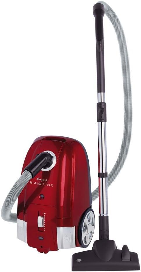 Dirt Devil M7050-6 Bagline - Aspiradora con bolsa (2400 W), color rojo: Amazon.es: Hogar
