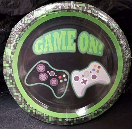 Epic Plate - Game ON Video game Controllers Game Truck Party Plates Cake Epic Decoration Birthday 10 Pieces