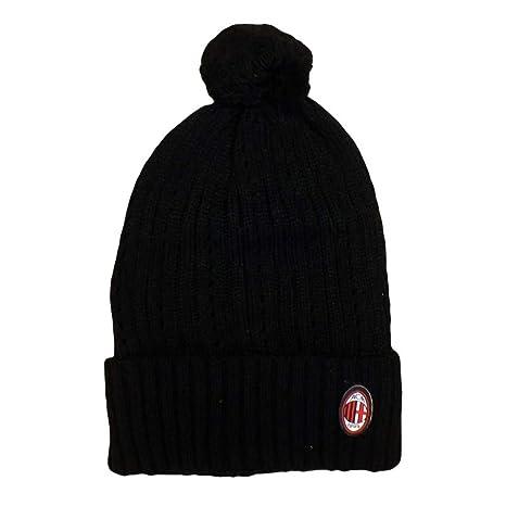 Berretto Milan pon pon rasta abbigliamento tifosi milanisti calcio  02454 bb99dbecccf9