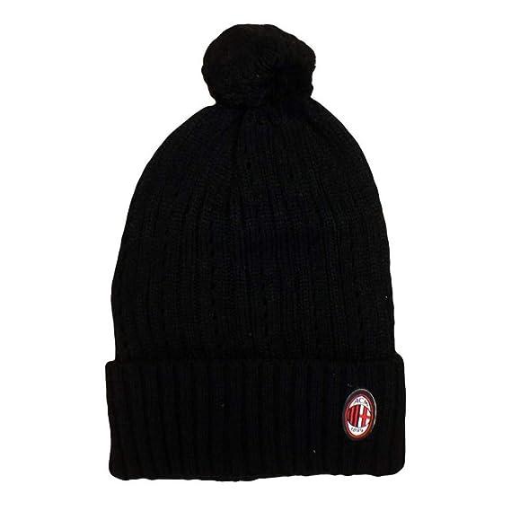 Berretto Milan pon pon rasta abbigliamento tifosi milanisti calcio  02454   Amazon.it  Sport e tempo libero 4f3663ae94b5
