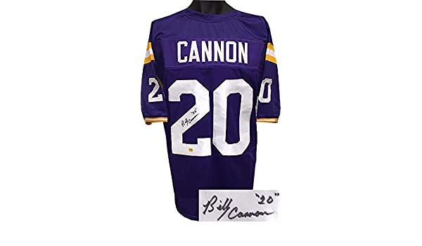 cfdfc8db5fc Autographed Billy Cannon Jersey - Purple TB Custom Stitched College  Football  20 XL - Autographed College Jerseys at Amazon s Sports  Collectibles Store