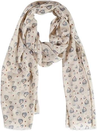 Ladies Grey Sailing Boats Scarf Holiday Boat Print Gift Scarves Wrap Shawl New