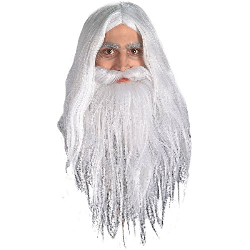 Gandalf Wig and Beard Set Costume Accessory -