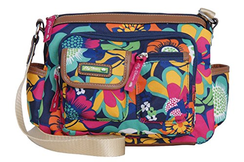 Lily Bloom Libby Cross Body Messenger (FLORAL FIESTA)