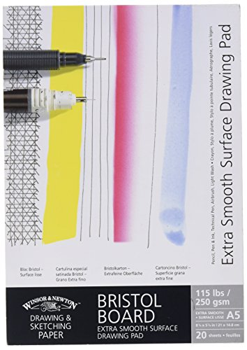 Winsor & Newton A5 Extra Smooth Bristol Board Gummed Pad (Drawing Board Bristol White)