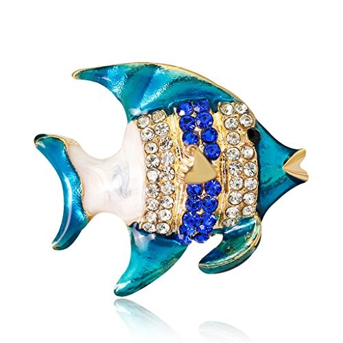 (Shaoge Ocean Tropical Fish Brooch Pins Jewelry Men Women Suit Gifts Corsage Decoration)