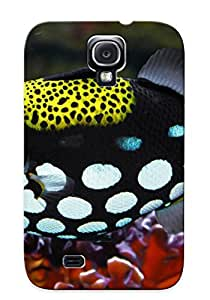 Storydnrmue Rugged Skin Case Cover For Galaxy S4- Eco-friendly Packaging(Animal Clown Triggerfish)