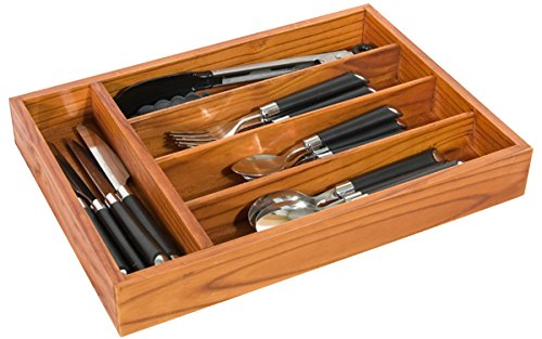 Home Basics Pine Cutlery Tray HDS Trading Corp CT01129