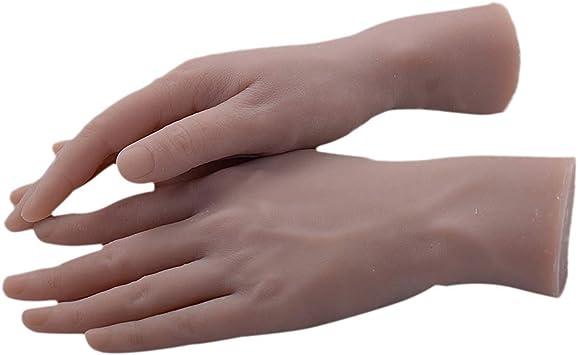 Toygogo Paire Mains De Mannequins Femmes Modele De Pratique A Ongles Display Couleur Vernis A Ongles Amazon Fr Beaute Et Parfum