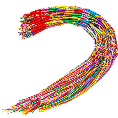 Resinta 40 Pieces Handmade Braided Bracelets Assorted Colors Friendship Cords Thread Bracelets Party Supply Favors for Wrist Anklet