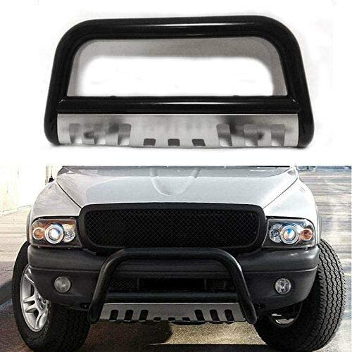 MOTORHOT Black Stainless Steel fit for Toyota Tundra//Sequoia Front Push Bumper Bull Bar Guard
