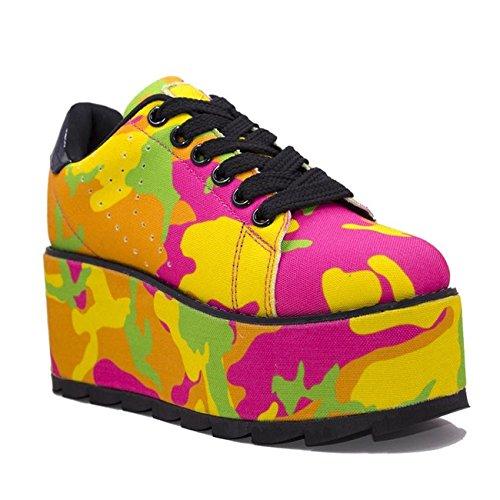 Camo' YRU Sneaker Platform Neon 'Lala p5wwqrBU