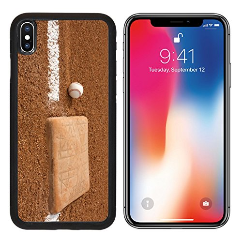 MSD Premium Apple iPhone X Aluminum Backplate Bumper Snap Case Baseball near Third Base with room for copy IMAGE 23748606