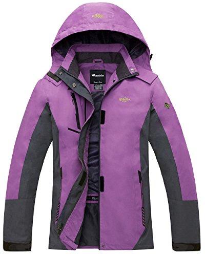 Wantdo Women's Spring Jacket With Storm Hood Sportswear Jacket Purple US (Storm Waterproof Hat)
