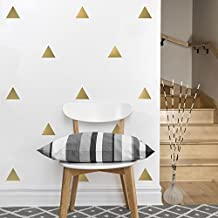 56 Gold Metallic Triangle Vinyl Wall Decals Peel and Stick