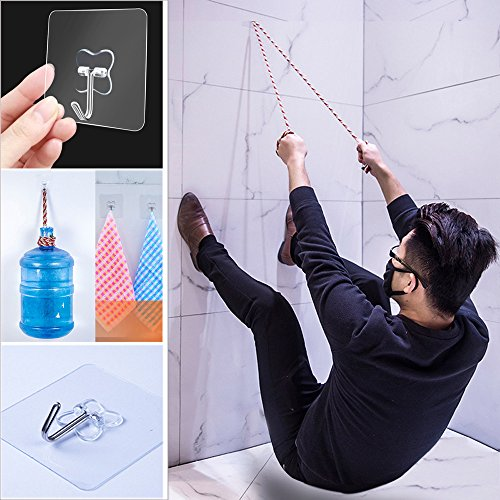 (SHJNHAN Wall Hooks,1pc/5pcs/10pcs Strong Transparent Suction Cup Sucker Wall Hooks Hanger for Kitchen Bathroo (5pcs))
