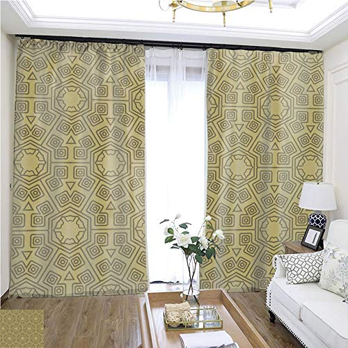 Children Curtain Decorative Geometric Ornament Seamless Pattern Vector Illustration for Design Wallpaper invitation7 W108 x L82 Insulated Room Shades Highprecision Curtains for bedrooms Living roo