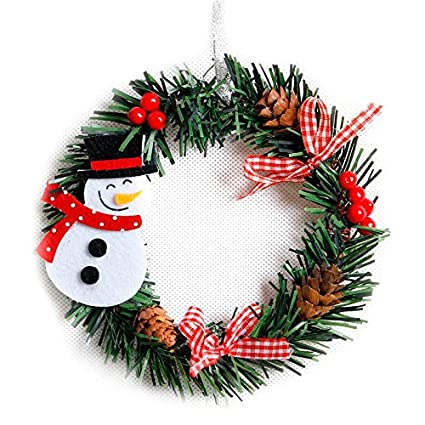 dropshipping gift christmas small christmas wreath cartoon with pines merry christmas wreaths mini xmas new year - Small Christmas Wreaths