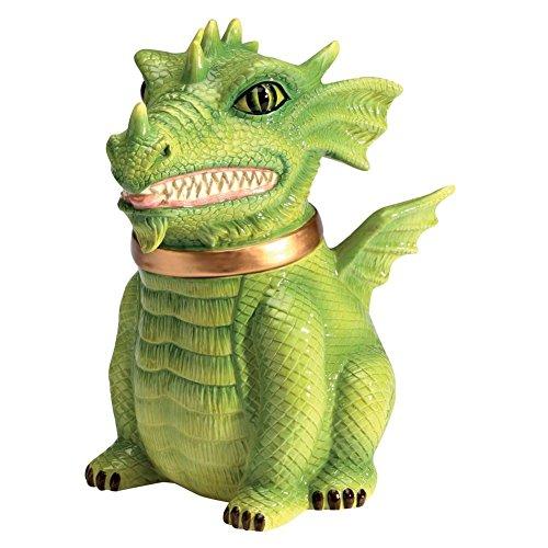 (PTC Dragon Cookie Jar Ceramic Cute Kitchen Accessory)