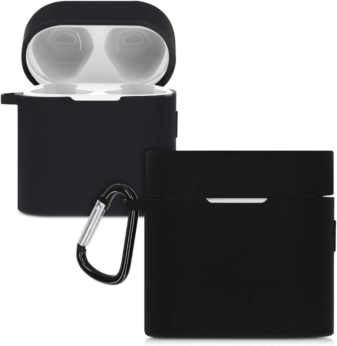 kwmobile Funda de Silicona Compatible con Xiaomi AirDots Pro 2 - Carcasa para Auriculares en Negro