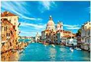 OhradWord Water City of Venice Jigsaw Puzzles 1000 Pieces for Adults Kids - Capital of Classical Charm - Large Puzzle Game T
